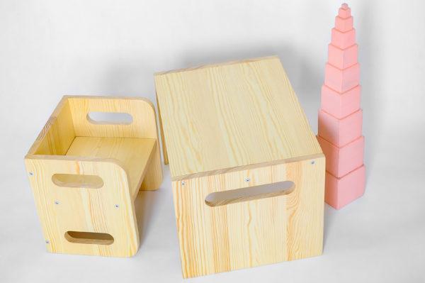biurko i krzesełko montessori https://polanamontessori.pl