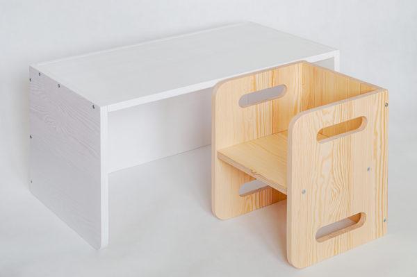 biurko krzesełko montessori drewniane https://polanamontessori.pl
